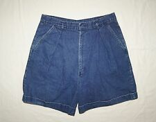 Womens High Waisted Denim Shorts Sz 16 Congo Traders Turned Cuffs Pleated