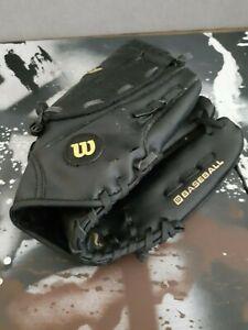 "Wilson A200 Dual Hinge 10 1/2"" XLC Black Baseball Glove Left Hand Sport"
