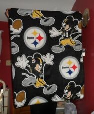 "Disney Nfl Pittsburgh Steelers Mickey Mouse light weight fleece throw 50"" x 38"""