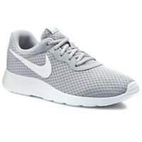 New Nike Mens Tanjun Running Trainers Shoes  Lightweight - Wolf / Grey / White