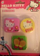 Sanrio Hello Kitty 3 pack of Erasers