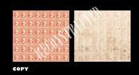 Spain 1853,- 2Rs, Vermilion, Elizabeth II, Pane of 48,Philately Rarity,Copy