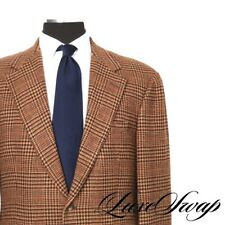 Vintage Polo Ralph Lauren Mocha Brown Multi Prince of Wales Tweed Jacket 41 USA