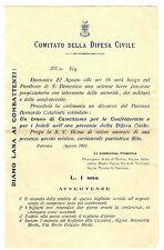 Comitato Difesa Civile Diamo Lana ai Combattenti Discorso Parroco Palermo 1915