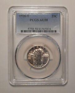 1926-S Standing Liberty silver Quarter 25c PCGS AU58 1926S AU-58