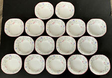 """16 Johnson Brothers SUMMER CHINTZ 6 1/8"""" Square Bowls Cereal Soup Dessert Salad"""