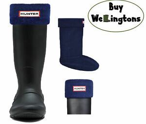 SALE New Ladies Hunter Boots Fleece Welly Socks Navy Blue Size Medium Fits 3 4 5