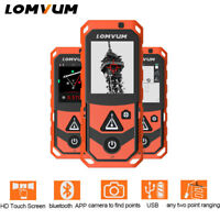 LOMVUM Bluetooth Laser Distance Meter Camera Rangefinder USB Handheld Measuring