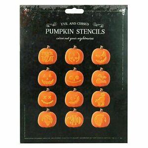 Pack of 12 Halloween Pumpkin Stencils