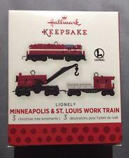 Hallmark 2013 miniature Lionel 3 pc. set Minneapolis & St. Louis Work Train NEW