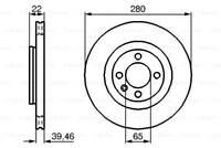 2 St. BOSCH Bremsscheibe für Bremsanlage 0 986 478 508