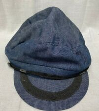 Newsboy Baker Boy Hat Blue & Black - Adjustable