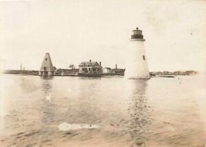 c1910 Photo PALMERS ISLAND LIGHTHOUSE Light NEW BEDFORD Massachusetts