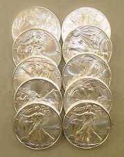 Lot of (10) 2019 1 oz .999 Fine American Silver Eagle Bullion Coins