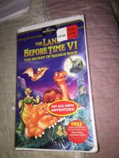 The Land Before Time VI: The Secret of Saurus Rock (VHS, 1998, Clamshell New