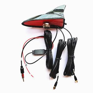 Shark Fin Car Antenna Radio FM/AM Signal Aerial Amplifier For WIFI GPS System