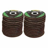 """24 x Flat Flap Discs Mixed Grit For Angle Grinder 4.5"""" (115mm) Sanding Grinding"""