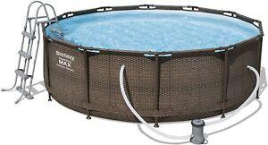 Bestway Steel Pro Max Pool Set 366 x 100 cm, 9150 liter, Rattan Look