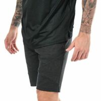 Men's Under Armour UA Unstoppable Double Knit Fitted Shorts in Black