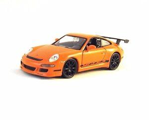 PORSCHE 911 (997) GT3 RS WELLY 1/34 ORANGE DIECAST CAR MODEL, PORSCHE COLLECTION