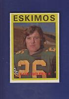 Dave Cutler 1972 O-PEE-CHEE CFL Football #96 (EXMT) Edmonton Eskimos