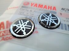 Yamaha Tank Panel Round Resin Emblems Badges Stickers x 2 45mm Diameter UK STOCK