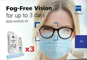 3x Zeiss AntiFOG Spray -Glasses Spectacle Camera Swimming goggle Visor ScubaMask