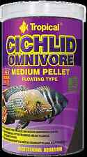 Tropical CICHLID OMNIVORE SMALL or MEDIUM  PELLET 250ml,500ml,1L