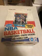 1986-87 Fleer Basketball Empty Wax Pack Display Box Jordan Rookie Year Nm/Mt
