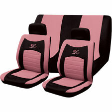 6PC UNIVERSAL FULL CAR SEAT COVER SET RS STYLE PINK