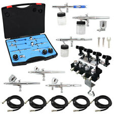 OPHIR 6X Airbrush Spray Guns 4-Airbrushes Holder Splitter 5x Air Hose for Hobby