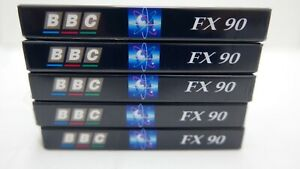 5x BBC FX Super Ferric C90 Tape Cassettes Sealed, Mint