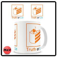 Portal, the cake is a lie coffee mug, xbox, ps3, ps4, pc gamer