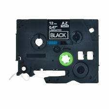 12mm 8m White on Black Label Tape For Brother TZ TZe-335 P-Touch PT-1830 PT-2730