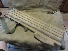 Vintage 1940s Canvas Pipe Organ Style Tube Golf Bag RARE! > Antique Bags 9600