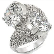 Ladies cocktail ring size j usa 5 cz 8ct pave cubic zirconia sparkling new 1W015