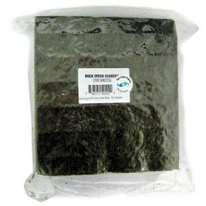 SeaVeggies Green Seaweed BULK 100 Sheets Sea Veggies by Two Little Fishies