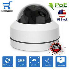 HD 1080P PTZ Outdoor POE Security IP Dome Camera With 4X Optical Zoom ONVIF P2P