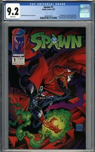 Spawn #1 CGC 9.2 NM- 1st Appearance of Spawn (Al Simmons) WHITE PAGES