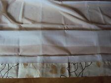 1 Raffrollo Faltrollo Schlaufen weiß beige für Stange B/H 140 x 170 cm