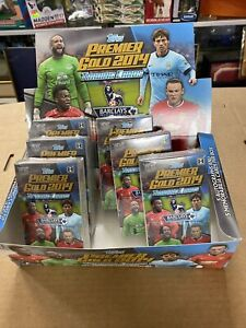 2014 Topps Premier League Gold Soccer Packs (LOT OF 6) Factory Sealed)