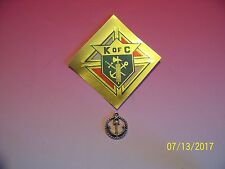 KNIGHTS OF COLUMBUS - Silver Tone Anchor Second degree Symbol 5/8""