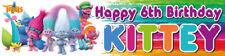 Trolls Personalised Birthday Banner Kids Party Idea Hanging Decoration Custom