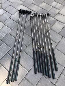 11pc left handed golf clubs 3 woods 3-P irons set MacGregor Golden Bear men USED