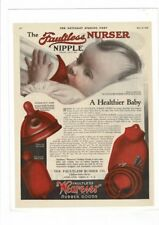 VINTAGE 1920 WEAREVER RUBBER GOODS BOTTLES SWEET BABY AD PRINT #B785