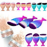 Single Mermaid Fish Scale Makeup Fishtail Bottom Powder Blusher Cosmetic Brush