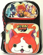 """Yo-kai Watch Large School 16"""" inches Backpack Boy Authentic Licensed"""