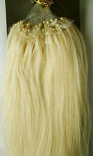 "24"" Remy Human Hair Loop Tip In Extensions 100s 50g 0.5g/s #60 Platinum Blonde"