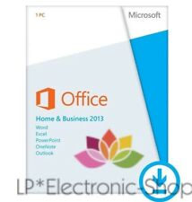 MICROSOFT OFFICE 2013 HOME & AND BUSINESS 32/64 BIT * DOWNLOAD * FATTURA *