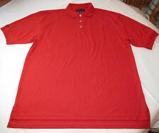 Cross Creek adult XXL mens red short sleeve polo shirt NOS